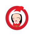 Cute Santa claus vector image vector image