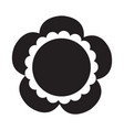cute sunflower icon vector image vector image