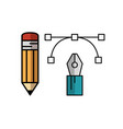 design-related objecs icon vector image