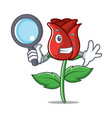 detective red rose character cartoon vector image vector image