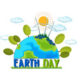 earth day poster concept vector image vector image