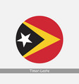 east timor round circle flag vector image