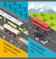 eco transport banners set vector image vector image
