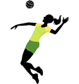 female volleyball player vector image