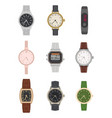 flat wrist watch various mens and womens vector image vector image