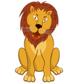 Funny Cartoon Lion vector image