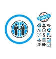 Global Partnership Flat Icon with Bonus vector image vector image