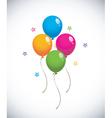 glossy balloons vector image vector image