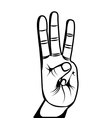 hand human symbol isolated icon vector image vector image