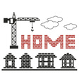 home made of bricks vector image vector image
