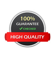 Hundred Percent Guarantee Colorful Labels vector image vector image