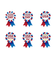 Independence day badges vector image vector image