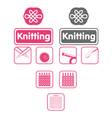 Knit icons vector | Price: 1 Credit (USD $1)