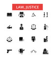 law justice thin line icons linear vector image vector image