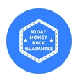 Money back guarantee icon in black style isolated vector image vector image