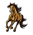 mustang horse running mascot logo design vector image