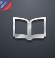 Open book icon symbol 3D style Trendy modern vector image vector image