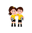 pair of goalkeepers vector image