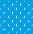 passenger plane pattern seamless blue vector image vector image
