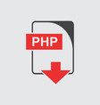 php icon flat vector image