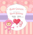 pink baby shower design for girl vector image vector image