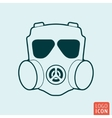 Respirator icon isolated vector image vector image