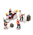 rock band isometric composition vector image vector image