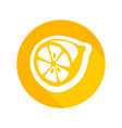 round icon of fresh lemon vector image vector image
