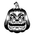 scary pumpkins big mouth and eyes vector image