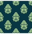 Seamless green floral pattern vector image vector image