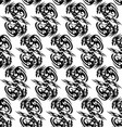 seamless monochrome pattern with stylized dragons vector image vector image