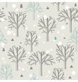 Seamless pattern for Winter forest and christmas vector image vector image