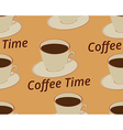 Seamless pattern with cup of coffee vector image vector image