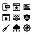 seo icons bundle vector image vector image