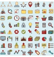 Set of 64 web icons for business finance and vector image vector image