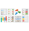 Set of abstract corporate business banner