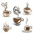 Set of coffee cups vector image vector image