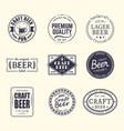set of isolated stickers for beer beermatcoaster vector image vector image