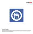 spoon and fork icon - blue photo frame vector image vector image