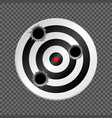 target with bullet holes vector image vector image