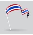 Thai wavy flag vector image vector image