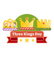 three kings day vector image