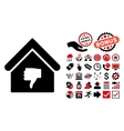 Thumb Down Building Flat Icon with Bonus vector image vector image