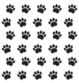 Traces of Cat Textile Pattern vector image