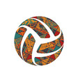 volleyball boho symbol vector image vector image