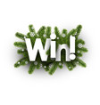win winter background with fir branches vector image vector image