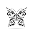 Vintage black pattern in a shape of a butterfly vector image