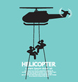 Soldiers Jump From a Helicopter vector image