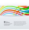 Abstract horizontal band vector image