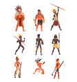 armed native people of african tribes australian vector image vector image